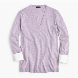 J. Crew V-Neck Wool Tunic Sweater w/ Cuffs